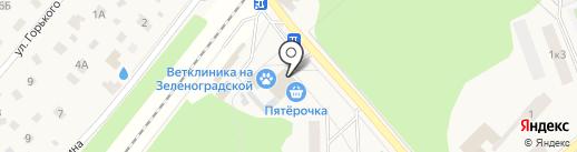 Киоск фруктов и овощей на карте Зеленоградского