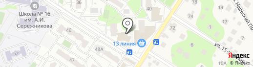 Магазин продуктов на карте Балашихи