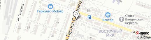 Восточный на карте Макеевки