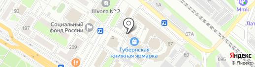 Кнопка на карте Люберец