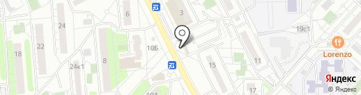 Магазин хлебобулочных изделий на карте Люберец