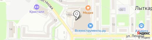 Актюбинск-525 на карте Лыткарино