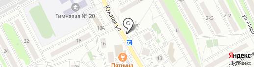 Дента на карте Люберец