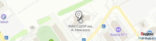 Дворец спорта им. Святого Александра Невского на карте Старого Оскола