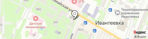 Банк Возрождение на карте Ивантеевки