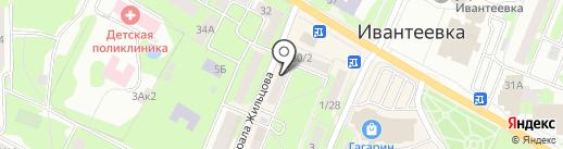 Зоомагазин на Первомайской на карте Ивантеевки