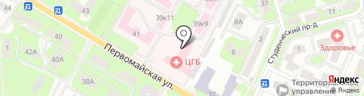 Центральная городская больница на карте Ивантеевки
