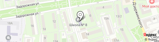 Открытая (сменная) общеобразовательная школа на карте Ивантеевки