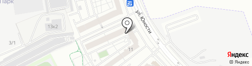 Люберецкий на карте Люберец
