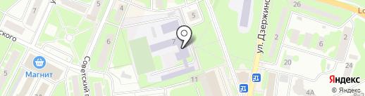 Средняя общеобразовательная школа №5 на карте Ивантеевки