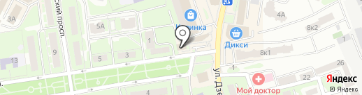 Автолицей на карте Ивантеевки