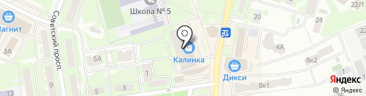 Магазин нижнего белья на карте Ивантеевки