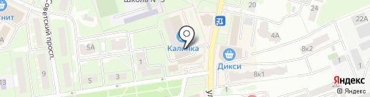 Анекс Тур на карте Ивантеевки