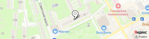 Магазин обоев на карте Ивантеевки