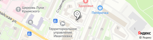 Городская база цветов на карте Ивантеевки