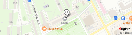 Магазин одежды и обуви на Центральном проезде на карте Ивантеевки