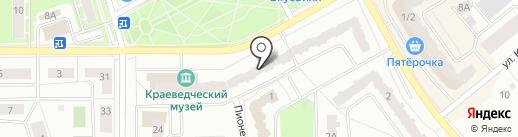 Детская городская библиотека на карте Ивантеевки