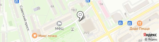 Киоск по продаже хлебобулочных изделий на карте Ивантеевки