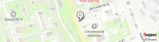 Главрукав на карте Ивантеевки