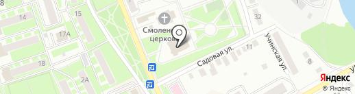 Первомайский на карте Ивантеевки
