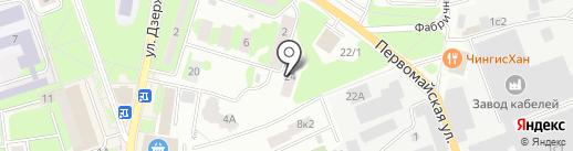 Управляющее РЭП №1 на карте Ивантеевки