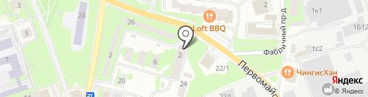 Айкикай Ивантеевка на карте Ивантеевки