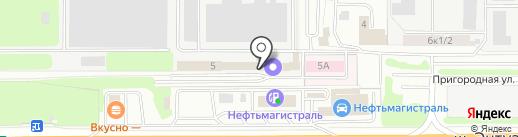 Рубин на карте Балашихи