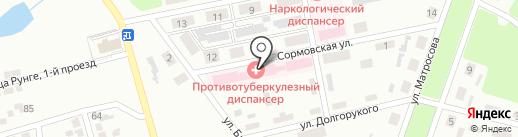 Городской противотуберкулезный диспансер г. Макеевки на карте Макеевки
