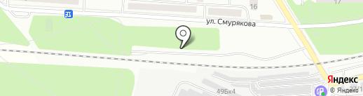Автостоянка на карте Ивантеевки