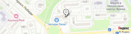 Дети на паркете на карте Некрасовки