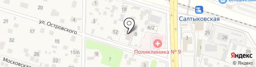 Салтыковский отдел полиции на карте Балашихи