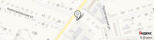 Тулица на карте Киреевска