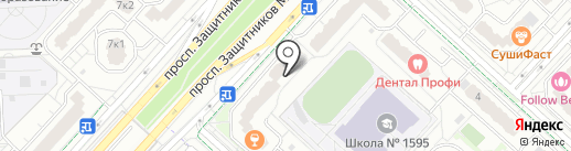 Елизавета на карте Москвы