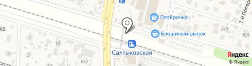 Салтыковская на карте Балашихи