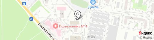 Зелёная Карета на карте Балашихи