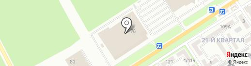Табакерка на карте Макеевки