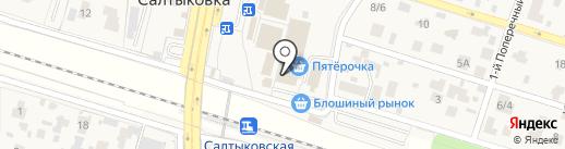 Салтыковский на карте Балашихи