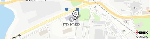 Профессиональное училище №130 на карте Ивантеевки