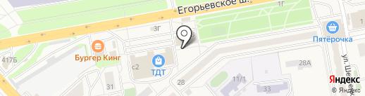 Милава на карте Томилино