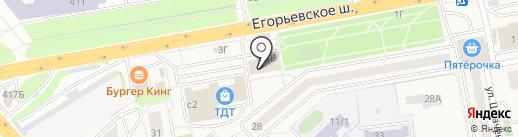 Колхоз Гжельский на карте Томилино