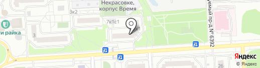 Студия красоты Евгении Поповой на карте Некрасовки
