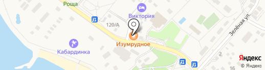 Изумрудный на карте Геленджика