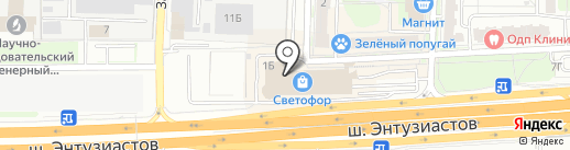 Принтодром на карте Балашихи