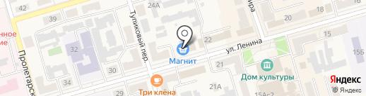 Магнит на карте Киреевска