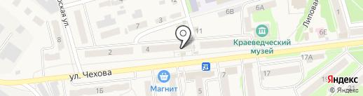 Киоск по продаже хлебобулочных изделий на карте Киреевска