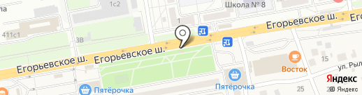 Магазин цветов на Егорьевском шоссе на карте Томилино