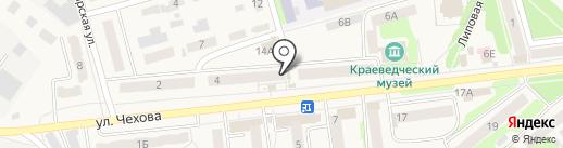 Киоск по продаже молочных продуктов на карте Киреевска