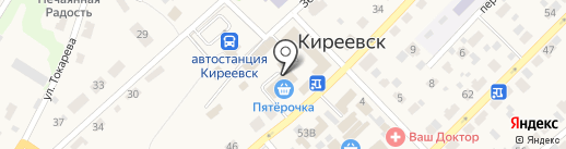 Магазин мясной продукции на карте Киреевска