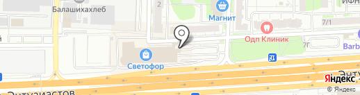 БРВ на карте Балашихи