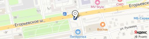 Киоск по продаже колбасных изделий на карте Томилино